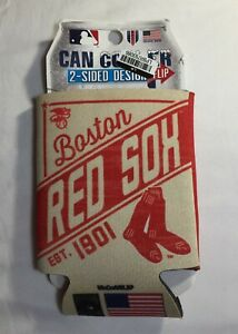 New Boston Red Sox Can Cooler Koozie Double Sided Graphic Design, 2-Packs, MLB