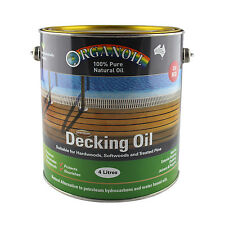 Organoil Timber Decking Oil  RED UV 4 litre - 100% Natural Oil