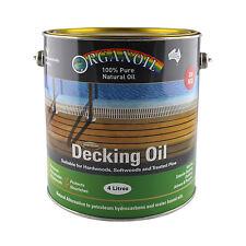 Organoil Timber Decking Oil  RED UV 4 litre - 100% Natural Oil