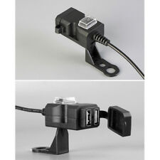 Dual USB 12V Motorcycle Handlebar Phone Power Charger Outlet Socket New