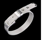 Women's Silver Filled Mesh Belt Design Bangle Bracelet Jewellery Gift UK