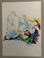 Autogramm signiert Francesco Totti + Peter Hiegelsperger signed tolles Bild