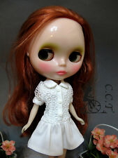 C.C.T Blythe Dal doll outfit lace one-piece dress (white) c-554