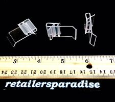 50X Clear Price Sign Tag Grip Holders ☀Outlet Priced!☀ For Gondola Lozier Shelf