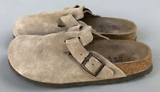 Birkenstock Betula Clogs Mules Biege Leather Suede Women's Size EU 37 / US 6-6.5