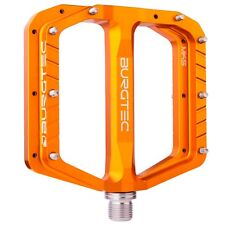 Burgtec Penthouse Flat Pedals MK5 Steel Boost Axles - Orange
