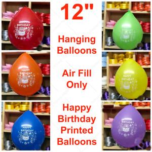 "12"" Inch Happy Birthday Printed latex balloons BALLON BALON Air Fill Only baloon"