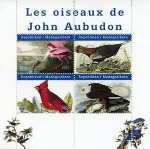 Madagascar Birds on Stamps 2020 MNH John James Audubon Eagles Art 4v M/S