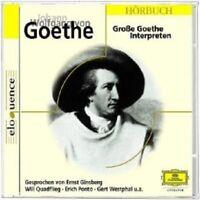 GINSBERG/QUADFLIEG/PONTO/WESTPHAL/+ - GROßE GOETHE INTERPRETEN  CD NEW