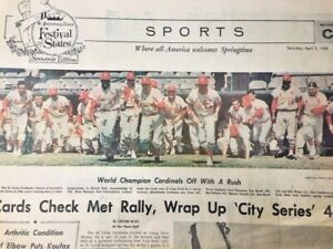 Newspaper St Petersburg Times 4/3/1965 Sports Section C - Cardinals vs Mets