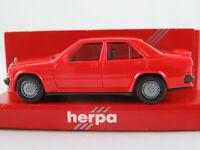 Herpa 2042 Mercedes-Benz 190 E 2.3-16 (1982-1987) in rot 1:87/H0 NEU/OVP