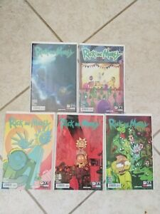 (5) Rick And Morty comic lot key variants. 13 14 15 16 17  see pictures.