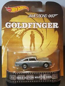 Hot Wheels James Bond 007 GOLDFINGER 1963 Aston Martin DBS