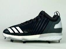 adidas Boost Icon 3 Metal Baseball Cleats Black/White B39167 Sz 10