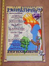 1997 MARITIME HALL JBG BAND, ZERO, BROKEN ANGELS w/ PHIL LESH  CONCERT POSTER