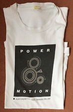 Apple vintage 1989 Power and Motion Tshirt, large, dark grey on white, used