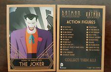 2015 SDCC COMIC CON DC BATMAN THE ANIMATED SERIES THE JOKER PROMO CARD
