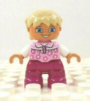 Lego Duplo Figure Dog Black w// brown face