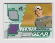 New listing Rasmus Hojgaard 2021 SP Game Used Golf Tour Gear Dual Shirt RC #TG-RH