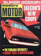 Modern Motor Aug 1972 Falcon Hardtop XA GT v HQ Monaro v Charger TA22 Celica
