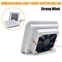 Dust-proof White Ventilation Fan Caravan Motorhome Side Exhaust Air Outlet Vent