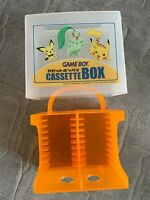 OFFICIAL CASSETTE BOX GAME BOY COLOR ADVANCE POKEMON VERY RARE VALISETTE JEUX