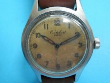 "A nice vintage 1940,s stainless steel ""Cortebert"" wristwatch,center seconds."