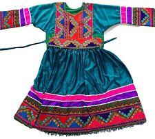 Emrald Verde Kuchi afgano BANJARA TRIBAL Boho étnicas Vestido Eid Partido señoras