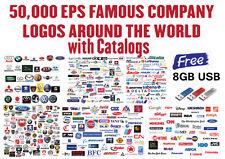 50,000 EPS FAMOUS COMPANY LOGOS : Vinyl Plotter / Cutter, Signs, Image Clip Art
