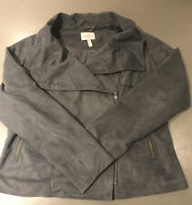 Pepperberry By Bravissimo Grey Faux Suede Jacket Size 14 Super Curvy