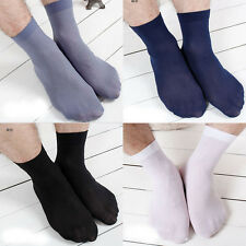 5/10 Pairs Men Breathable Nylon Sheer Thin Silk Ankle Anti-odor Short Soft Socks