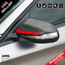 Red New Mercedes Rearview Mirror Cover Trim Strip Sticker Vinyl Racing Decal AMG