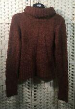 TK Maxx Brown Roll Turtle Neck Fluffy Soft Warm Long Sleeved Jumper Sweater (12)
