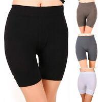 Damen Kurze Leggings Shorts Sports Radlerhose Stretch Fitnesshose Gym Kurzhose