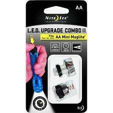 AA Mini Maglite Flashlight LED Upgrade Combo Kit Replace Incadescent Bulb