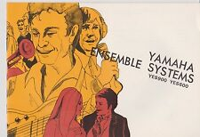 1960s/1970s YAMAHA ENSEMBLE MIXER SYSTEMS YES900 YES600 - Original Owners Manual