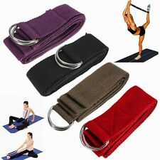 Dring 180cm Long Type Yoga Stretch Strap Training Belt Waist Leg Fitness Gym Hot