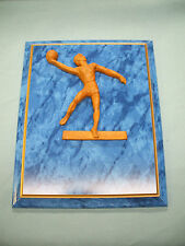 Basketball male hook shot high relief plaque 8 x 10 blue trophy