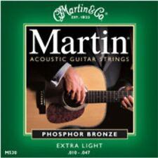 Cuerdas Para Guitarra Acústica Martin M530 bronce fosforoso Extra Luz Indicador 010 - 047