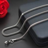 feine Silberkette Königskette 60cm Edelstahl Panzerkette Damen Herren Halskette