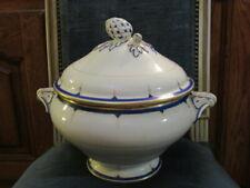 Ancienne Soupiere en Porcelaine Aux Deux Potiches H Grenon Rue Reaumur
