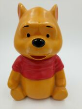 VTG Winnie the Pooh Ceramic Piggy Bank Walt Disney Productions Hand Painted