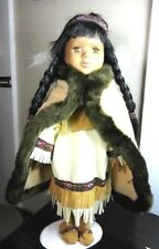 Native American Indian Girl Doll Princess Porcelain Ashley Belle Collectible
