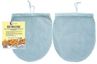 "Reusable 2* BEST Nut Milk Bag FOOD GRADE Fine Mesh Nylon Strainer 12""x10"" Filter"