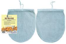 "Reusable 2* BEST Nut Milk Bag FOOD GRADE Fine Mesh Nylon Strainer 12""x10"" Filter"