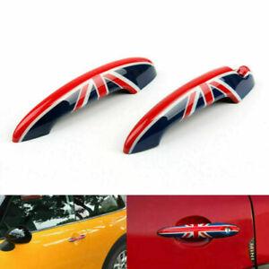 Union Jack UK Flag Design Door Handle Cover For Mini Cooper R50 R52 53 55 56..