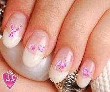 Pink Camo Hunter Deer Heart Nail Decal Stickers Set BUK102
