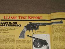 GUNS & AMMO TEST S&W K-38, REM XP-100 IN 223, BUCKMARK 22, ALLEN ARMS 1873