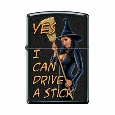 Zippo Lighter - Yes I Can Drive A Stick Black Matte - 853719