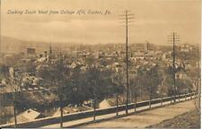 Looking South West from College Hill, Easton PA Vintage postcard unused